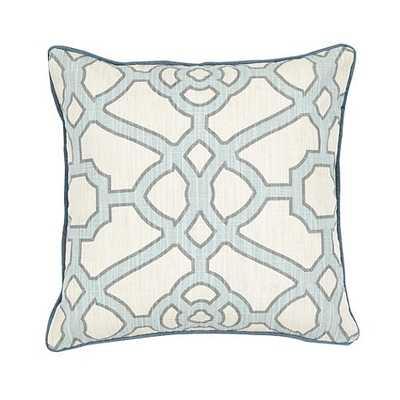 Meyers Pillow - Sky, 18x18, With Insert - Ballard Designs