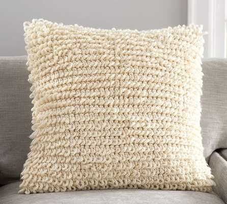 """LOOPY KNIT PILLOW COVER, 24""""Sq, Insert sold separately - Pottery Barn"""