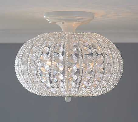 Clear Acrylic Round Flushmount Chandelier - Pottery Barn Kids