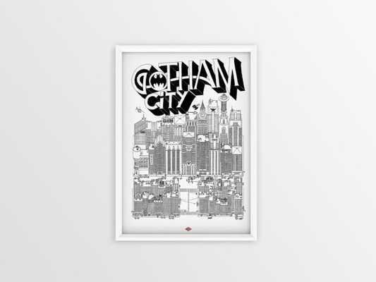 Gotham City SRA3 - 32 x 45 -Unframed - Etsy