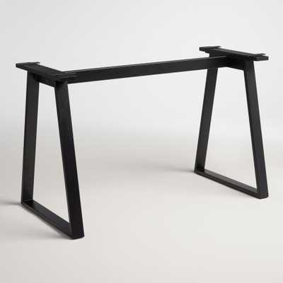 Blackened Metal Colton Mix & Match Desk Base - World Market/Cost Plus