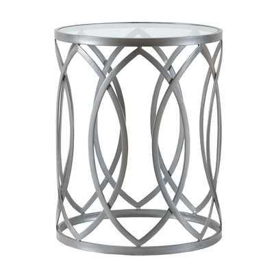 Arlo Metal Eyelet End Table - Wayfair