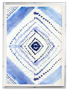 "Ayelet Iontef, Indigo Textile - 24""L x 18""W x 2""D- Clear Frame - One Kings Lane"