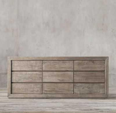 Reclaimed Russian Oak 9-drawer Dresser - RH