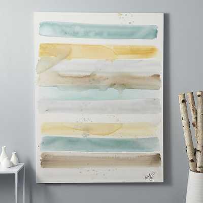 "Stripe series painting - 36""Wx48""H - unframed - CB2"