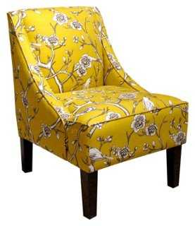 Fletcher Swoop-Arm Chair, Marigold - One Kings Lane