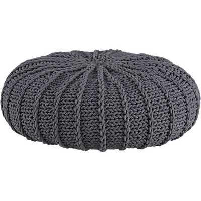 Jumbo knit shale pouf - CB2