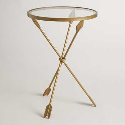 Gold Metal and Glass Arley Accent Table - World Market/Cost Plus