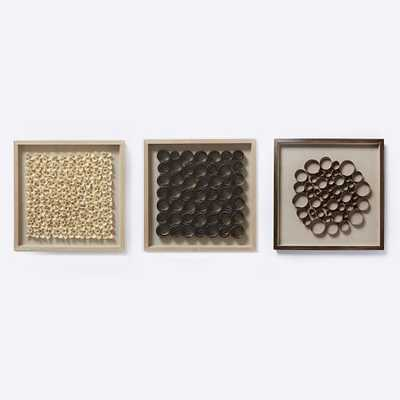 Nature of Wood Wall Art - Light Wood - Assorted Set of 3 - West Elm