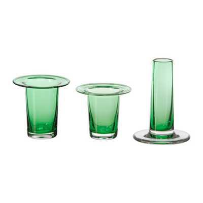 "ANVÃ""NDBAR Vase, set of 3, Green - Ikea"