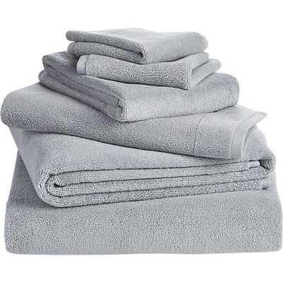 6-piece smith silver grey bath towel set - CB2