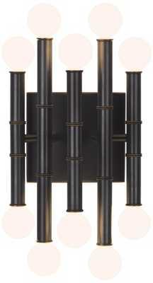 "Jonathan Adler Meurice 12"" High Patina Bronze Wall Sconce - Lamps Plus"