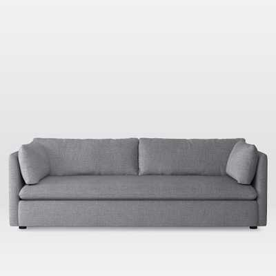 """Shelter 92"""" Sofa - Yarn Dyed Linen Weave, Pumice - West Elm"""