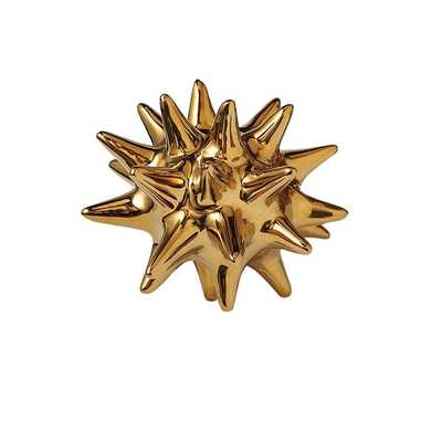 URCHIN SHINY GOLD DECORATIVE OBJECT - Dwell Studio