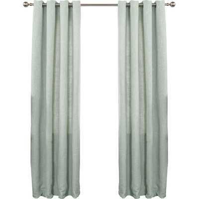"Solid Heavyweight Textured Faux Linen Curtain Panels -84""- Set of 2 - Wayfair"