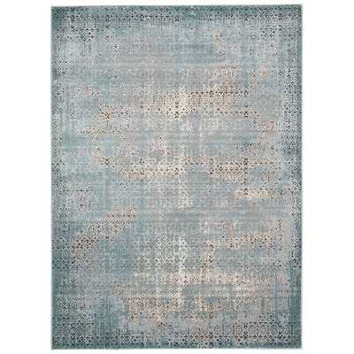 "Karma Blue Area Rug - 9'3"" x 12'9"" - Wayfair"