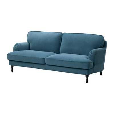 STOCKSUND Sofa, Ljungen blue, black/wood - Ikea