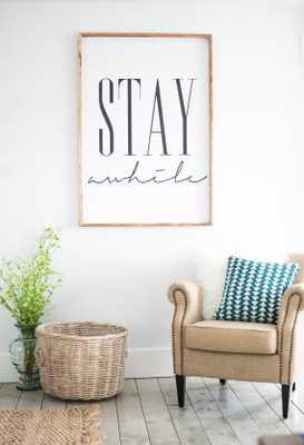 "Stay awhile framed print - 34"" x 44"" - Gold Frame - Etsy"
