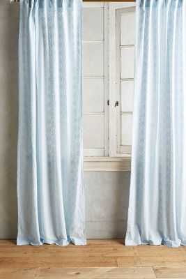 "Quadrille Curtain - Sky Blue - 50""W x 108""L - Anthropologie"