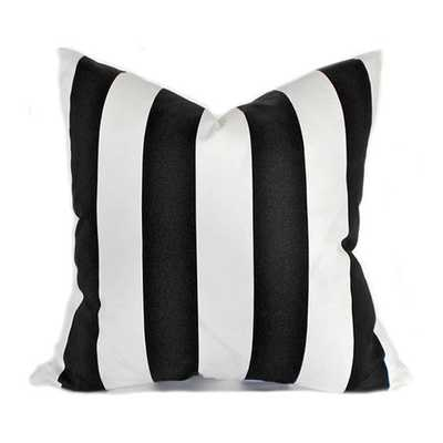 "Black and White Pillow Cover - 20""sq. - Insert Sold Separately - Etsy"