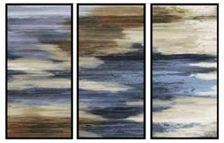 """Abstract Formulation Triptych - 52.5"""" x 31.5"""" - Black Frame - One Kings Lane"""