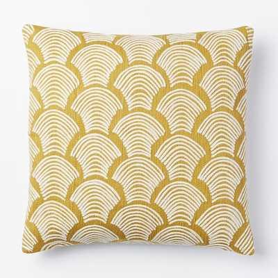 "Crewel Deco Shells Pillow Cover - Horseradish - 18""Sq. - Insert sold separately - West Elm"