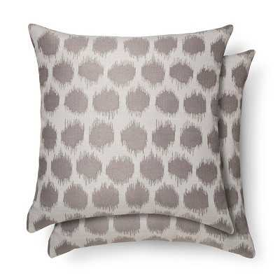 """2 Pack 18"""" x 18"""" Gray Throw Pillows Dot with insert - Target"""