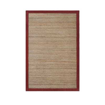 Allen + Roth Witham Red Rectangular Indoor Braided Area Rug - Lowes