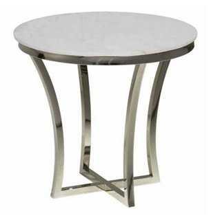 Aurora Marble Side Table - One Kings Lane