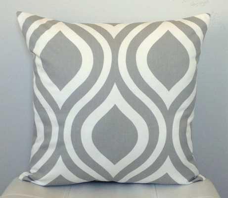 Gray Geometric Pillow Cover - Decorative Pillow -18''-No insert - Etsy