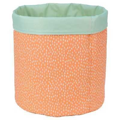 "Reversible Canvas Bin Round Peach Dot - Pillowfortâ""¢ - Target"