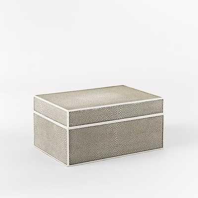 Faux Shagreen Box - West Elm