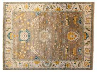 "9'1""x12' Sari Oushak Rug, Gray/Ivory - One Kings Lane"