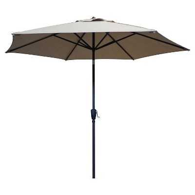 "9' Round Patio Umbrella - Thresholdâ""¢-Beige - Target"