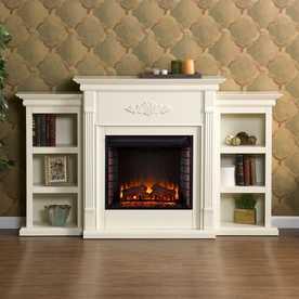 Wood Fan-Forced Electric Fireplace - Lowes