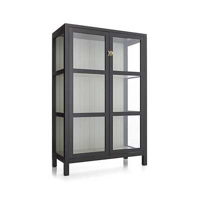 Kraal Black Cabinet - Crate and Barrel