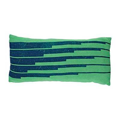 Big League Green Printed Pillow - Polyester fill - Land of Nod