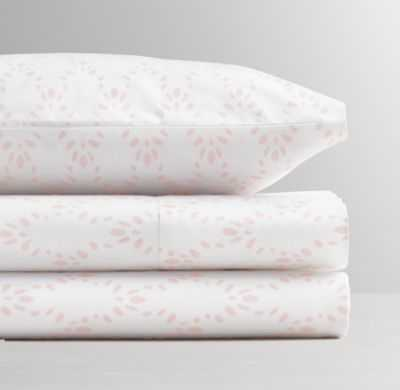 Petite trellis crib fitted sheet - Pink - RH