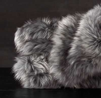 EXOTIC FAUX FUR THROW - RH