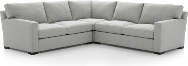 Axis II 3-Piece Sectional Sofa - Stream - Crate and Barrel