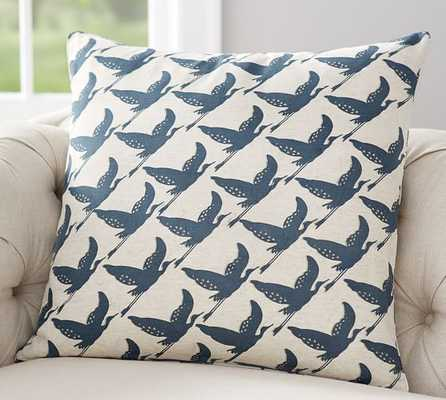 "Geo Bird Print Pillow Cover - 24"" square - Pottery Barn"