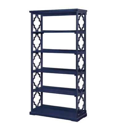 """Esmeralda 6-Tier 72.2"""" Bookshelf - Blue - Wayfair"""