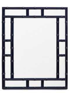 Bamboo Wall Mirror, Navy - One Kings Lane
