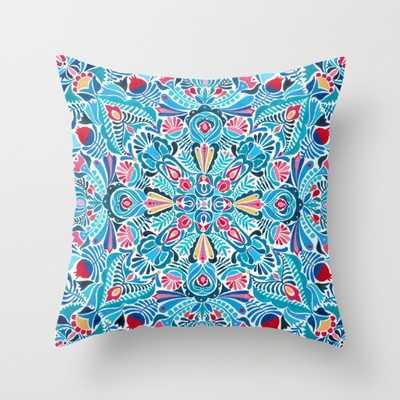 "Folk mandala Pillow - 18""Sq. - Down Insert - Society6"