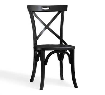 JESSY SIDE CHAIR - BLACK - Pottery Barn
