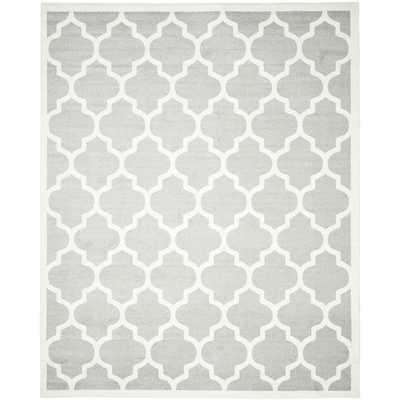 Safavieh Indoor/ Outdoor Amherst Light Grey/ Beige Rug (9' x 12') - Overstock