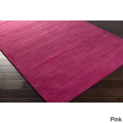Hand-loomed Aspen Casual Solid Wool Area Rug - Overstock