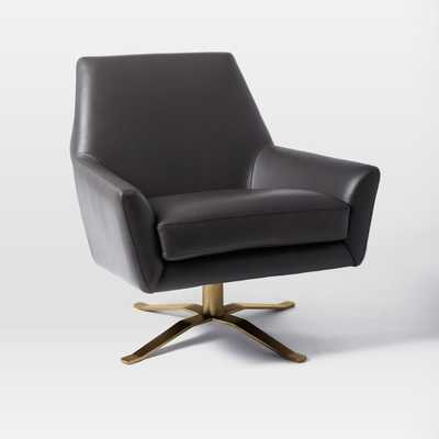 Lucas Leather Swivel Base Chair - West Elm