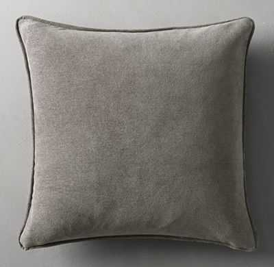 BELGIAN LINEN STONEWASHED BRUSHED WEAVE PILLOW COVER - Insert not included - RH