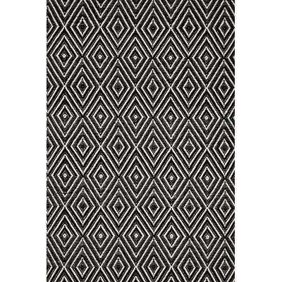 Woven Black & Ivory Diamond Area Rug - 2' x 3' - Wayfair